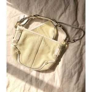 Coach Bags - * Coach Woven Leather Shoulder Matching Canvas Bag
